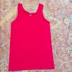 Neon pink girl's tank top